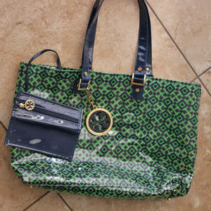 Tory Burch Print And Clear Tote Bag